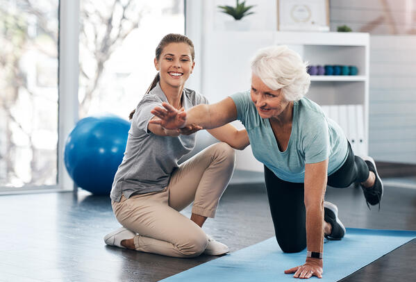 Older patient exercising