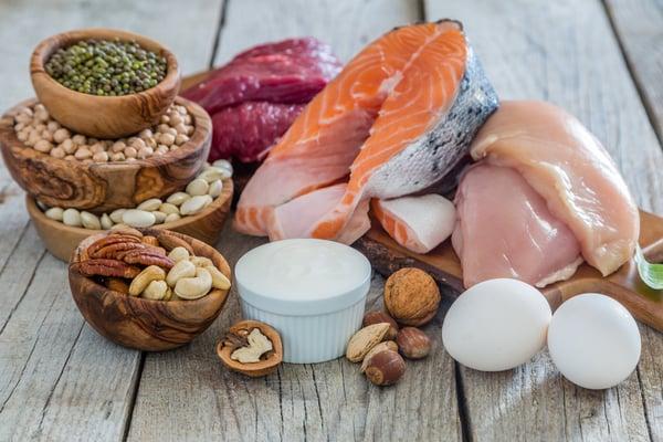 Protein, chicken, salmon, beans